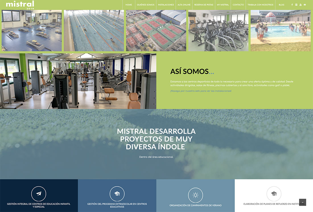 diseño web mistral