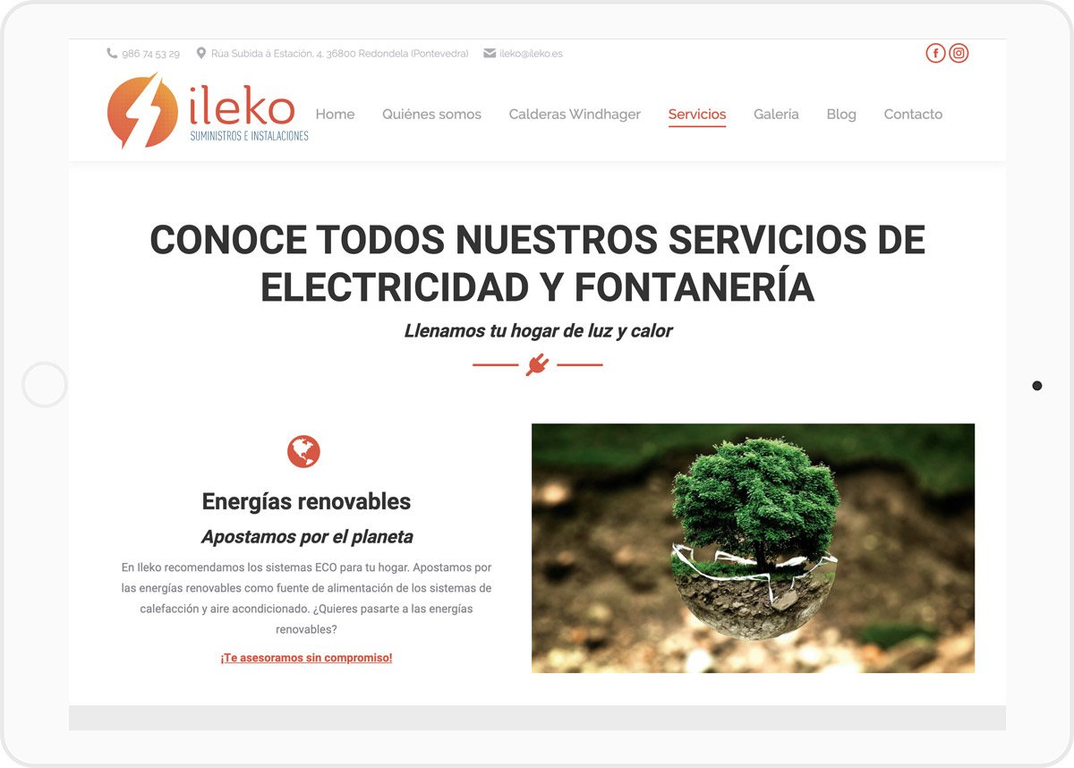 diseño web ileko